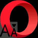 Настройка шрифтов в Opera