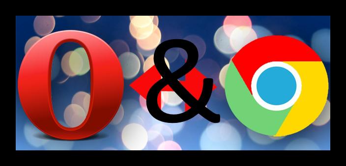 Картинка Сравнение Chrome и Opera