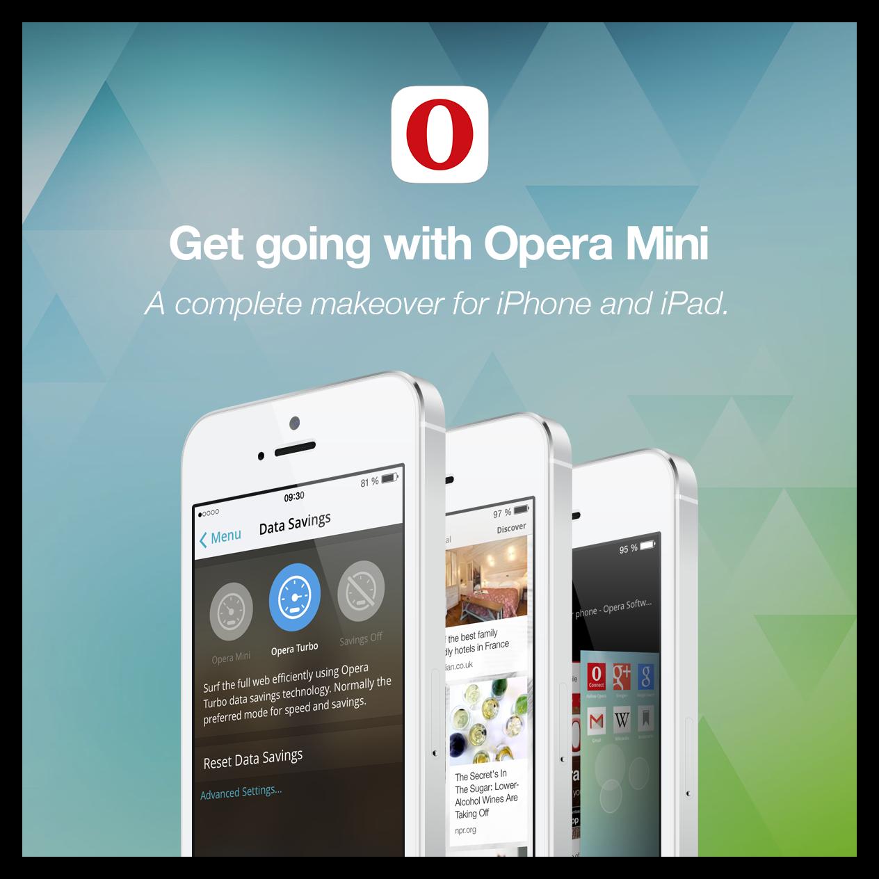 Изображение Браузер Opera Mini для iOS