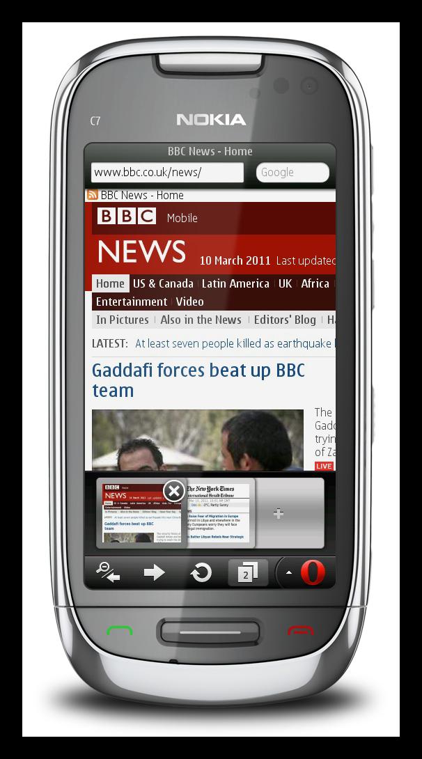 Opera Mobile для Symbian