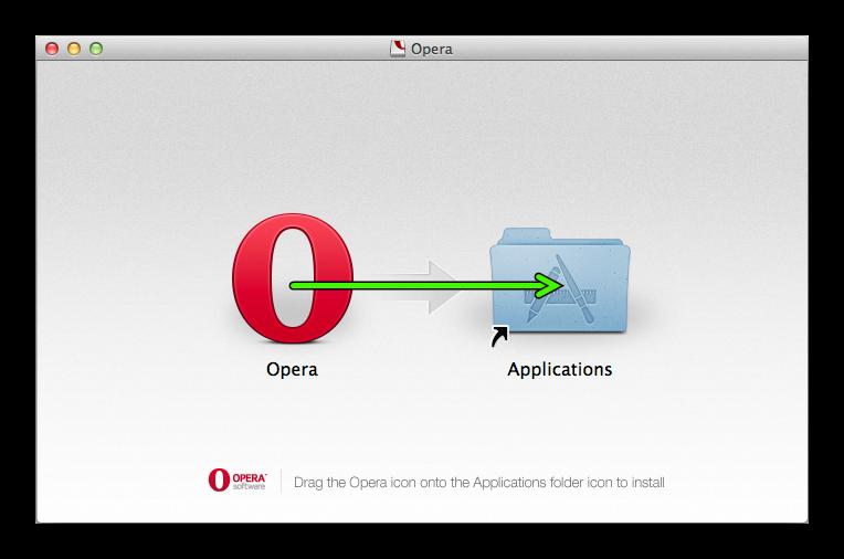 Установка старой версии Opera для Mac OS